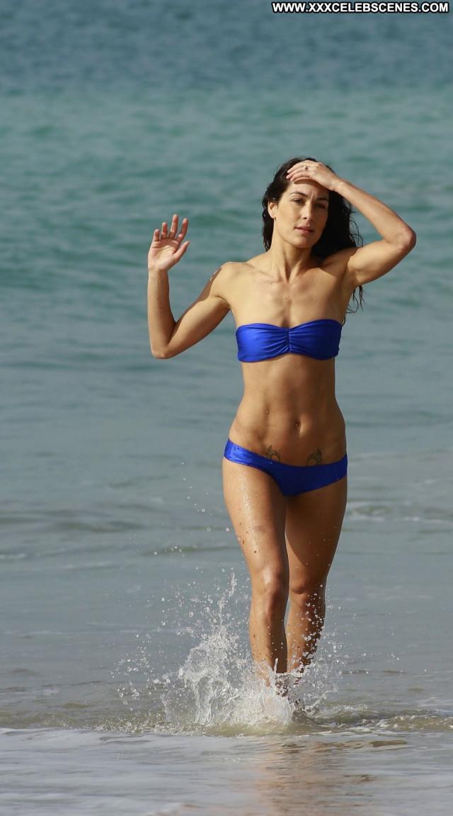 Nikki Bella The Beach Celebrity Sexy Beautiful Beach Posing Hot Babe
