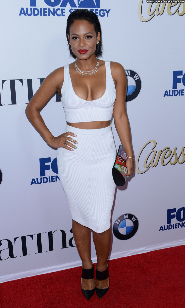 Christina Milian No Source Cleavage Singer American Celebrity Babe