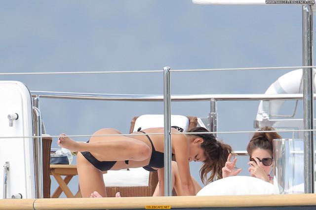Nicole Scherzinger Monte Carlo Bikini Car Babe Celebrity Yacht Black