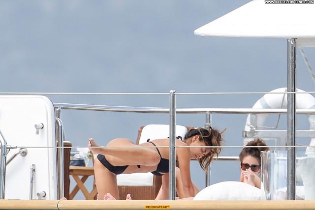 Nicole Scherzinger Monte Carlo Bikini Black Celebrity Yacht Car Babe