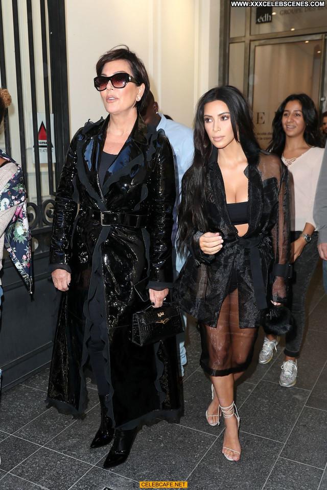 Kim Kardashian No Source  Posing Hot Paris Beautiful Celebrity Ass
