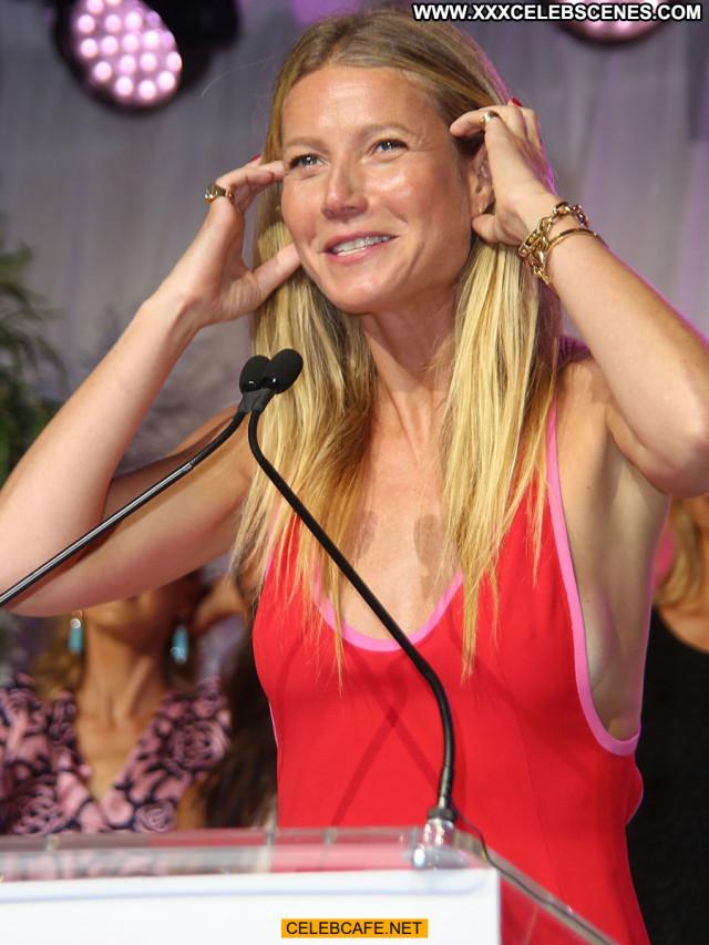 Gwyneth Paltrow No Source Posing Hot Sideboob Celebrity Babe