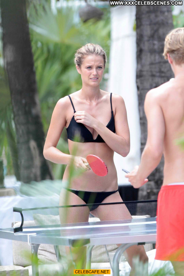 Kate Bock No Source Beautiful Bikini Black Celebrity Babe Posing Hot