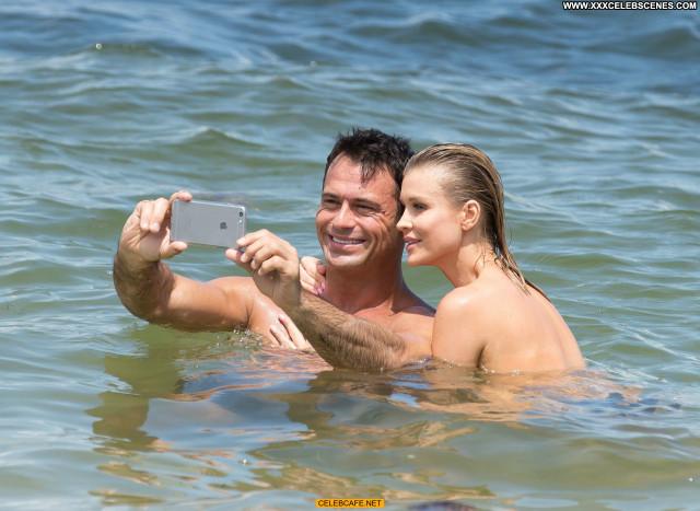 Joanna Krupa The Beach Black Bikini Beautiful Toples Topless Babe