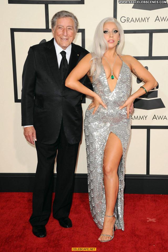 Lady Gaga Grammy Awards Celebrity Posing Hot Cleavage Beautiful Gag