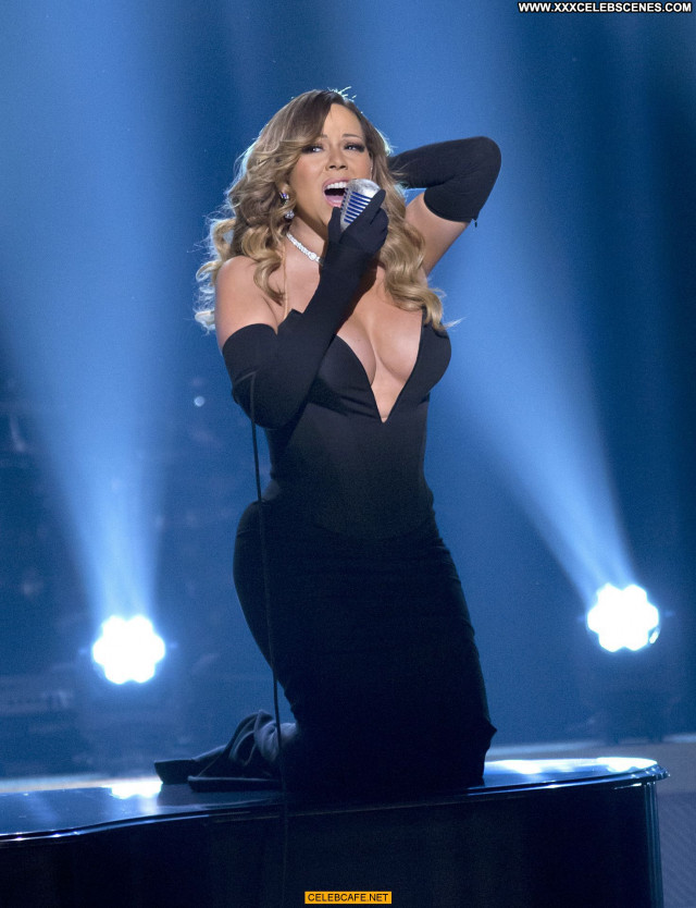 Mariah Carey No Source Beautiful Babe Cleavage Posing Hot Celebrity