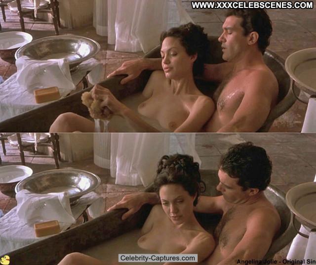 Angelina Jolie Original Sin Celebrity Angel Babe Posing Hot Sex Scene