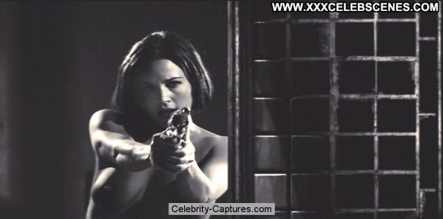 Carla Gugino Sin City Posing Hot Car Sex Scene Babe Toples Celebrity