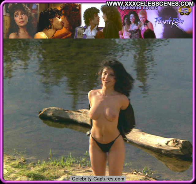 Apollonia Kotero Purple Rain Topless Celebrity Busty Posing Hot