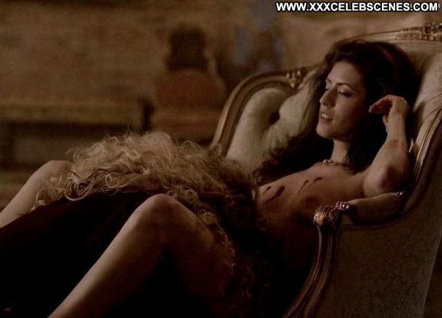 Ashley Barron True Blood Big Tits Posing Hot Chair Blonde Celebrity