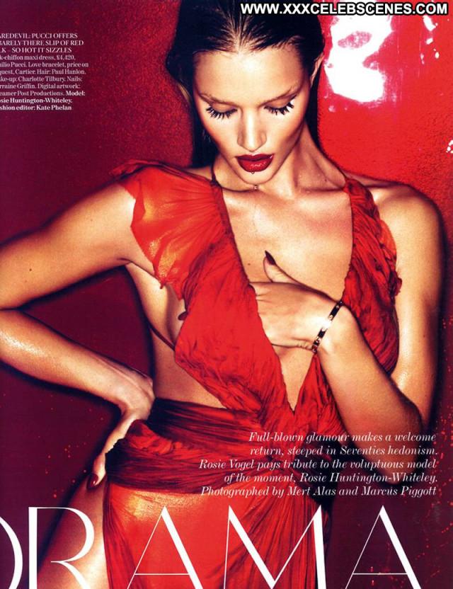 Rosie Huntington Whiteley Vogue Magazine British Posing Hot Magazine