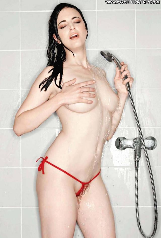 Sara Jereb Photo Shoot Celebrity Babe Brunette Shower Photo Shoot See