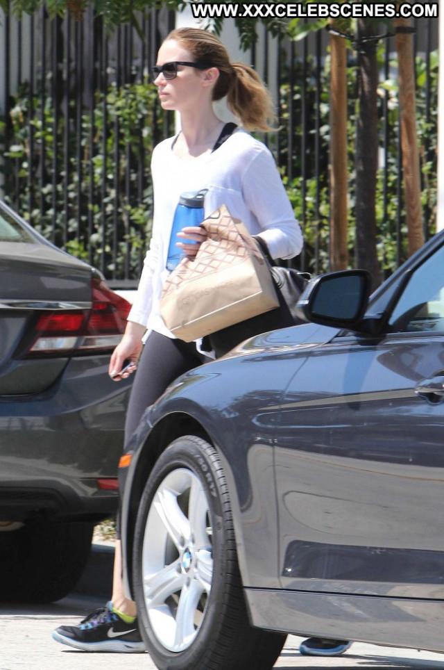 Emily Blunt West Hollywood Celebrity Gym Paparazzi Babe Hollywood