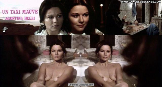 Agostina Belli Un Taxi Mauve Sex Scene Posing Hot Celebrity Babe Nude