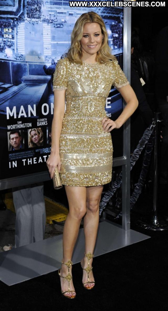 Elizabeth Banks Man On A Ledge Beautiful Posing Hot Angel Los Angeles