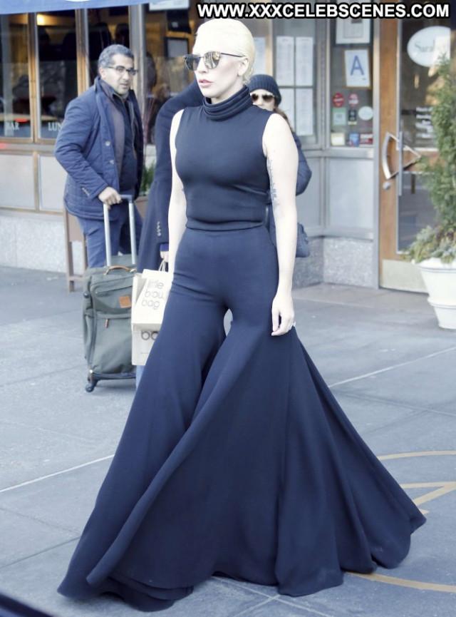 Lady Gaga New York Paparazzi Gag Posing Hot New York Beautiful
