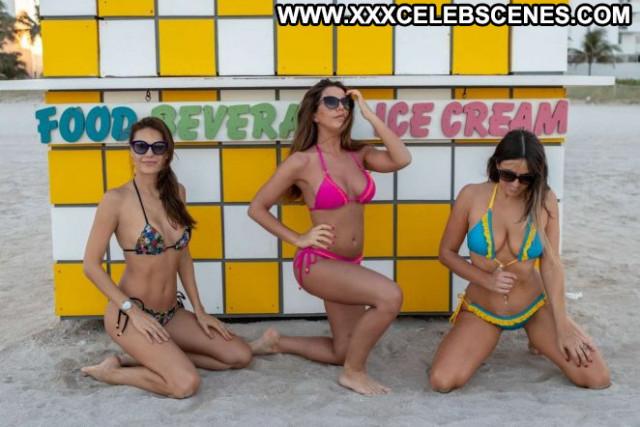 Julia Pereira No Source  Beach Paparazzi Posing Hot Babe Bikini Bra