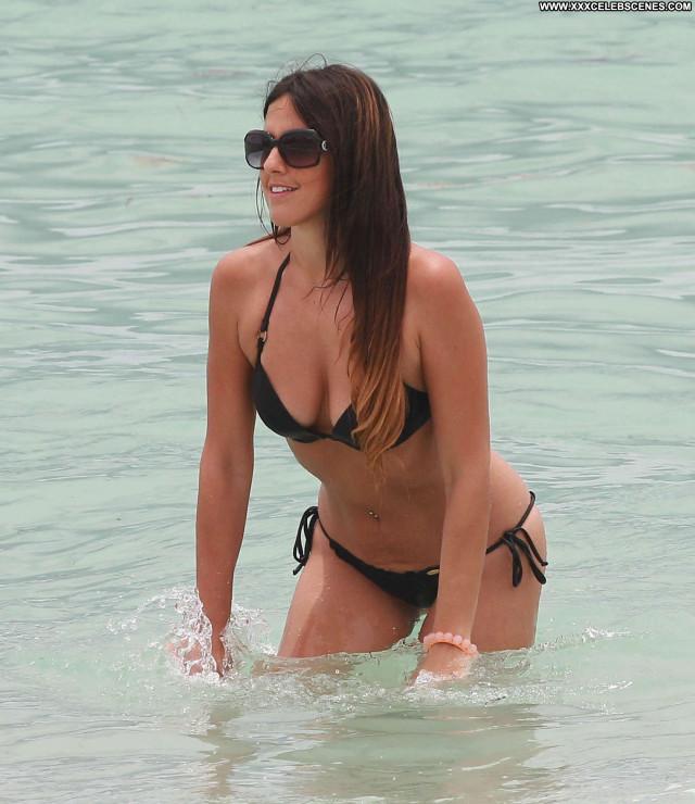 Claudia Romani No Source Black Bikini Posing Hot Celebrity Paparazzi