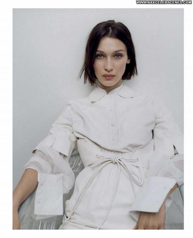 Bella Hadid Vogue Magazine Paparazzi Babe Celebrity Beautiful Posing