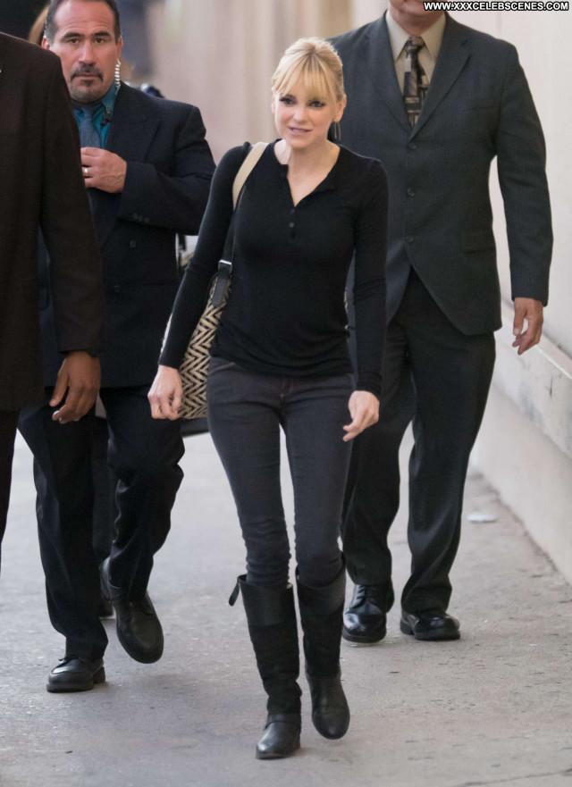 Anna Faris Jimmy Kimmel Live Beautiful Hollywood Paparazzi Babe Live