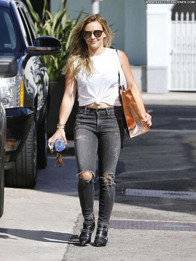 Hilary Duff Beverly Hills Posing Hot Paparazzi Celebrity Babe