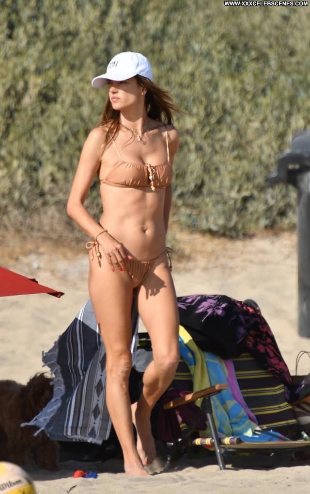 Alessandra Ambrosio The Beach In Malibu Babe Posing Hot Paparazzi