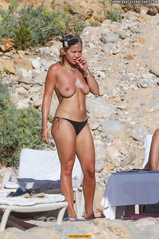 Rita Ora No Source Celebrity Ibiza Friends Toples Posing Hot Babe
