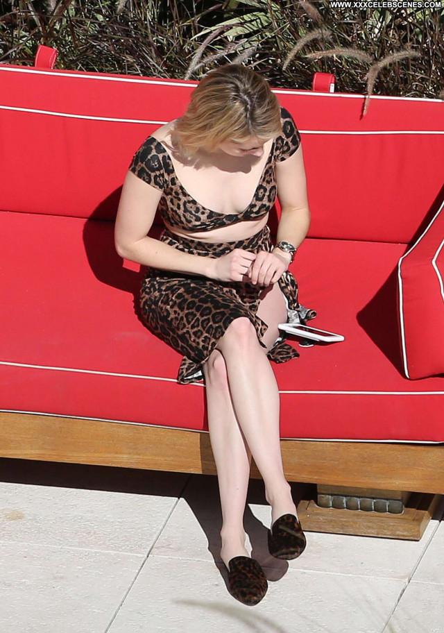 Emma Roberts Miami Beach Celebrity Babe Paparazzi Beautiful Posing Hot